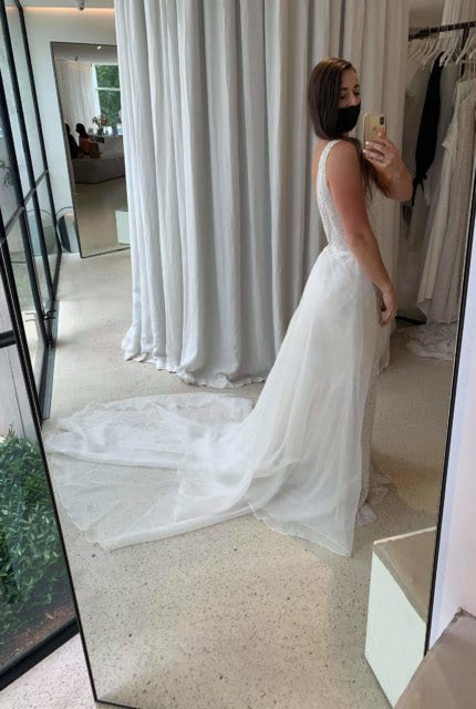 Mariana Hardwick – Size 10 Fit and Flare dress | Second hand wedding dresses Airport West - 4