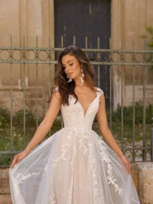 A-Line dress by Luv Bridal