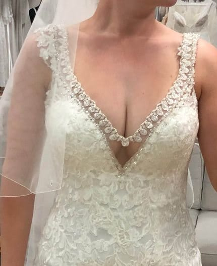 Allure Bridals – Size 6 Fit and Flare dress | Second hand wedding dresses Hamlyn Terrace - 5
