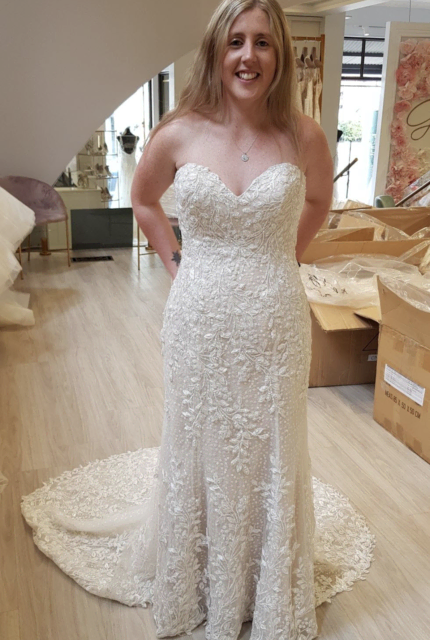 Demetrios – Size 12 Fit and Flare dress | Second hand wedding dresses Abbotsford - 13