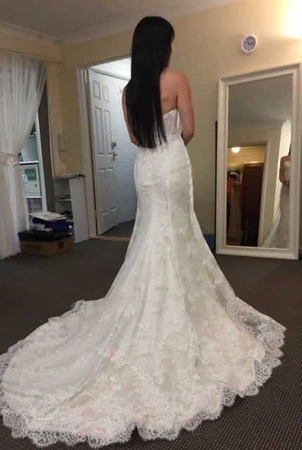 Private Label By G – Size 6 Fishtail dress   Second hand wedding dresses North Willoughby - 2