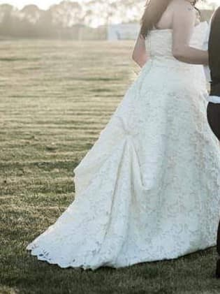Michelle Roth – Size 20 A-Line dress   Second hand wedding dresses Maroubra - 5
