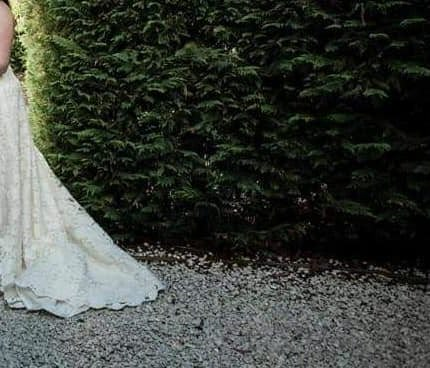 Michelle Roth – Size 20 A-Line dress   Second hand wedding dresses Maroubra - 6