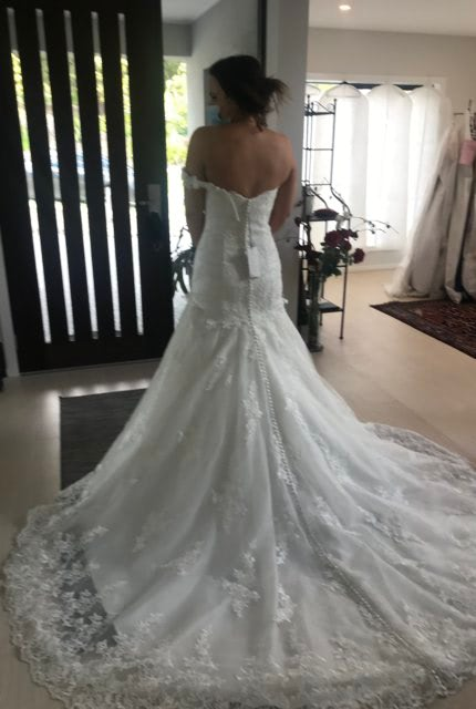 Justin Alexander – Size 12 Fit and Flare dress   Second hand wedding dresses Seaford - 2