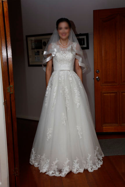 Bespoke / Other – Size 8 A-Line dress   Second hand wedding dresses Clayton South - 2