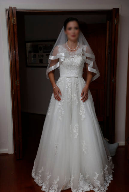 Bespoke / Other – Size 8 A-Line dress   Second hand wedding dresses Clayton South - 3