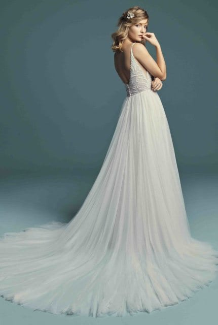 Abbey Bridal – Size 6 A-Line dress | Second hand wedding dresses Padstow - 5