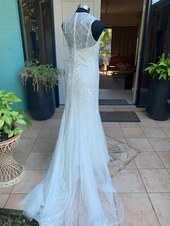 Rosa Clara – Size 12 Fit and Flare dress   Second hand wedding dresses The Gap - 5
