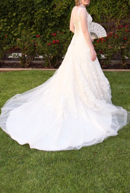 Maggie Sottero – Size 6 Fit and Flare dress | Second hand wedding dresses Evanston Gardens - Size 6