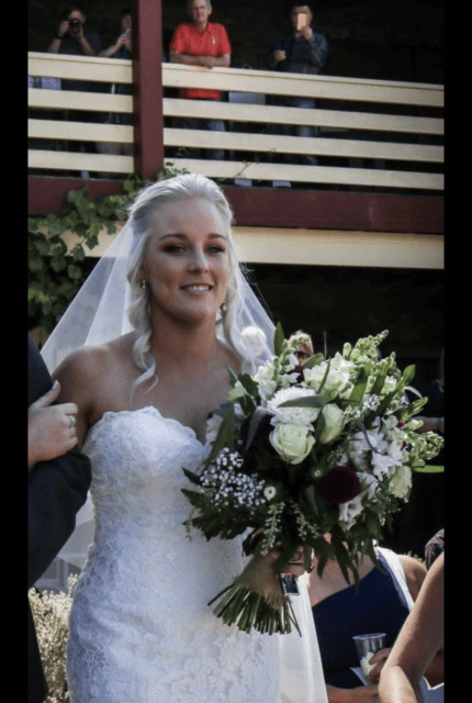 Allure Bridals – Size 12 Fit and Flare dress   Second hand wedding dresses Sunbury - 4