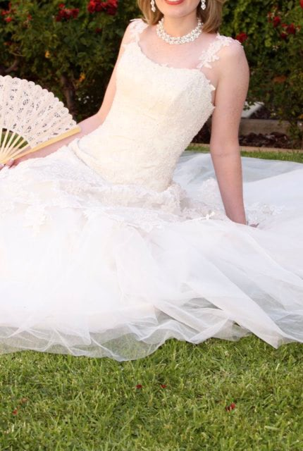Maggie Sottero – Size 6 Fit and Flare dress | Second hand wedding dresses Evanston Gardens - 3