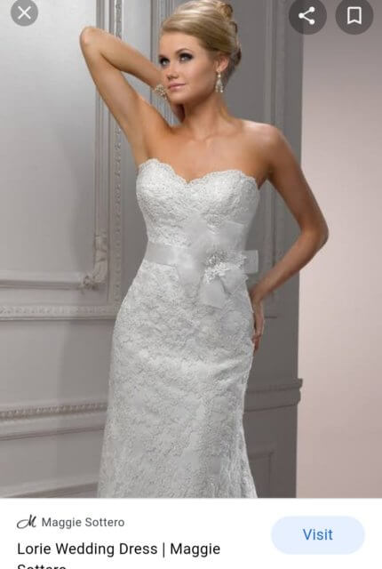 Maggie Sottero – Size 10 A-Line dress | Second hand wedding dresses NGUNNAWAL - 5